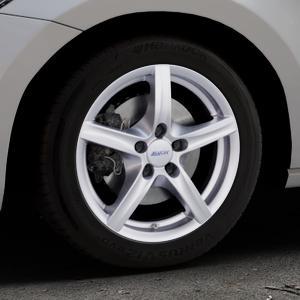 ALUTEC Grip polar-silber Felge mit Reifen in 16Zoll Winterfelge Alufelge auf silbernem Volkswagen (VW) Touran III Typ 1T (15->) ⬇️ mit 15mm Tieferlegung ⬇️ Industriehalle 1 Thumbnail