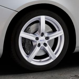 ALUTEC Grip polar-silber Felge mit Reifen in 17Zoll Winterfelge Alufelge auf silbernem Alfa Romeo Giulietta Typ 940 ⬇️ mit 15mm Tieferlegung ⬇️ Industriehalle 1 Thumbnail