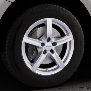 ALUTEC Grip polar-silber Felge mit Reifen in 17Zoll Winterfelge Alufelge auf silbernem Audi Q5 I Typ 8R ⬇️ mit 15mm Tieferlegung ⬇️ Industriehalle 1 Thumbnail