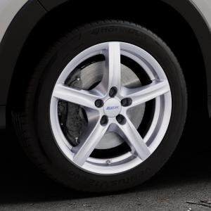 ALUTEC Grip polar-silber Felge mit Reifen in 17Zoll Winterfelge Alufelge auf silbernem Honda HR-V II (RU) ⬇️ mit 15mm Tieferlegung ⬇️ Industriehalle 1 Thumbnail