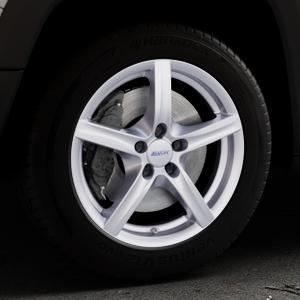 ALUTEC Grip polar-silber Felge mit Reifen in 17Zoll Winterfelge Alufelge auf silbernem Jeep Renegade Typ BU ⬇️ mit 15mm Tieferlegung ⬇️ Industriehalle 1 Thumbnail