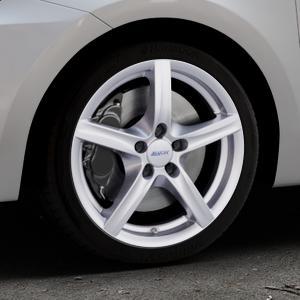 ALUTEC Grip polar-silber Felge mit Reifen in 17Zoll Winterfelge Alufelge auf silbernem Suzuki Swift VI Typ AZ ⬇️ mit 15mm Tieferlegung ⬇️ Industriehalle 1 Thumbnail