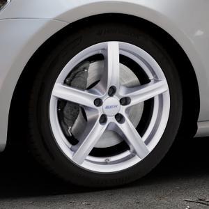 ALUTEC Grip polar-silber Felge mit Reifen in 17Zoll Winterfelge Alufelge auf silbernem Volkswagen (VW) Golf 7 ⬇️ mit 15mm Tieferlegung ⬇️ Industriehalle 1 Thumbnail
