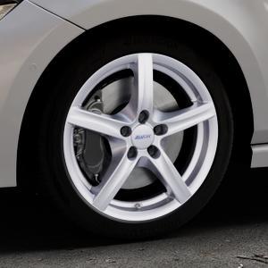 ALUTEC Grip polar-silber Felge mit Reifen in 17Zoll Winterfelge Alufelge auf silbernem Volkswagen (VW) Polo VI Typ AW ⬇️ mit 15mm Tieferlegung ⬇️ Industriehalle 1 Thumbnail