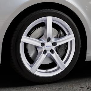 ALUTEC Grip polar-silber Felge mit Reifen in 18Zoll Winterfelge Alufelge auf silbernem Audi A4 Typ 8K2/B8 (Limousine) ⬇️ mit 15mm Tieferlegung ⬇️ Industriehalle 1 Thumbnail