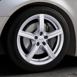 ALUTEC Grip polar-silber Felge mit Reifen in 18Zoll Winterfelge Alufelge auf silbernem Audi A6 Typ 4G/C7 (Avant) ⬇️ mit 15mm Tieferlegung ⬇️ Industriehalle 1 Thumbnail