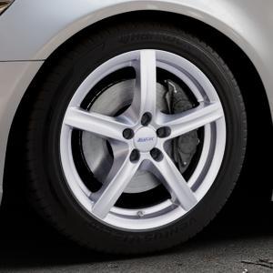 ALUTEC Grip polar-silber Felge mit Reifen in 18Zoll Winterfelge Alufelge auf silbernem Audi A6 Typ 4G/C7 (Limousine) ⬇️ mit 15mm Tieferlegung ⬇️ Industriehalle 1 Thumbnail