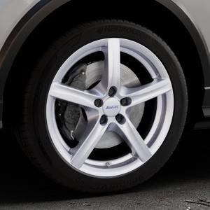 ALUTEC Grip polar-silber Felge mit Reifen in 18Zoll Winterfelge Alufelge auf silbernem Audi Q2 Typ GA ⬇️ mit 15mm Tieferlegung ⬇️ Industriehalle 1 Thumbnail