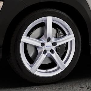 ALUTEC Grip polar-silber Felge mit Reifen in 18Zoll Winterfelge Alufelge auf silbernem Hyundai Kona Typ OS ⬇️ mit 15mm Tieferlegung ⬇️ Industriehalle 1 Thumbnail