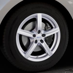 ALUTEC Grip polar-silber Felge mit Reifen in 18Zoll Winterfelge Alufelge auf silbernem Land Rover Range Velar Typ LY ⬇️ mit 15mm Tieferlegung ⬇️ Industriehalle 1 Thumbnail