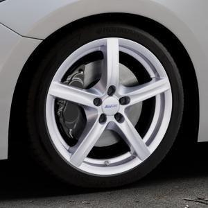 ALUTEC Grip polar-silber Felge mit Reifen in 18Zoll Winterfelge Alufelge auf silbernem Mazda 3 (13-) Stufenheck (BM) Sport (17-) Facelift Fließheck ⬇️ mit 15mm Tieferlegung ⬇️ Industriehalle 1 Thumbnail