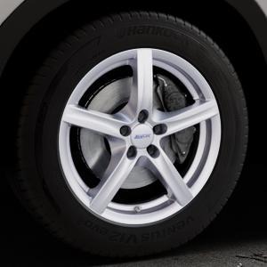 ALUTEC Grip polar-silber Felge mit Reifen in 18Zoll Winterfelge Alufelge auf silbernem Mazda CX-5 Typ KE ⬇️ mit 15mm Tieferlegung ⬇️ Industriehalle 1 Thumbnail