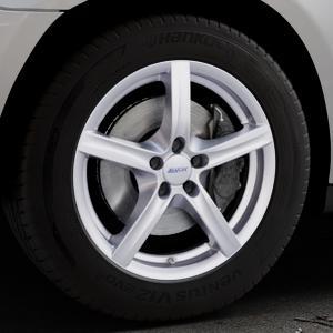 ALUTEC Grip polar-silber Felge mit Reifen in 18Zoll Winterfelge Alufelge auf silbernem Mercedes M-Klasse Typ W164 ⬇️ mit 15mm Tieferlegung ⬇️ Industriehalle 1 Thumbnail