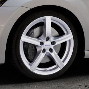ALUTEC Grip polar-silber Felge mit Reifen in 18Zoll Winterfelge Alufelge auf silbernem Volkswagen (VW) Golf 7 Sportsvan ⬇️ mit 15mm Tieferlegung ⬇️ Industriehalle 1 Thumbnail