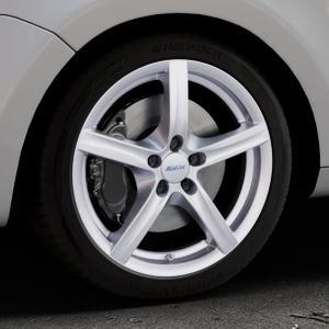 ALUTEC Grip polar-silber Felge mit Reifen in 18Zoll Winterfelge Alufelge auf silbernem Volkswagen (VW) Sharan II Typ 7N ⬇️ mit 15mm Tieferlegung ⬇️ Industriehalle 1 Thumbnail
