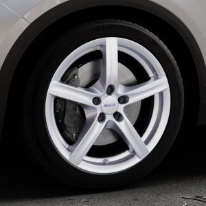 ALUTEC Grip polar-silber Felge mit Reifen in 18Zoll Winterfelge Alufelge auf silbernem Volkswagen (VW) T-Roc ⬇️ mit 15mm Tieferlegung ⬇️ Industriehalle 1 Thumbnail