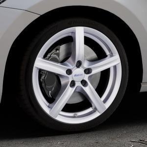 ALUTEC Grip polar-silber Felge mit Reifen in 18Zoll Winterfelge Alufelge auf silbernem Volkswagen (VW) Touran III Typ 1T (15->) ⬇️ mit 15mm Tieferlegung ⬇️ Industriehalle 1 Thumbnail