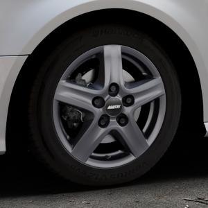 ALUTEC Grip Transporter graphit Felge mit Reifen grau in 16Zoll Winterfelge Alufelge auf silbernem Audi A3 Typ 8V Facelift ⬇️ mit 15mm Tieferlegung ⬇️ Industriehalle 1 Thumbnail