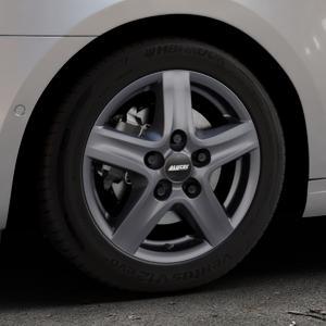 ALUTEC Grip Transporter graphit Felge mit Reifen grau in 16Zoll Winterfelge Alufelge auf silbernem Skoda Octavia III Kombi Typ 5E Facelift ⬇️ mit 15mm Tieferlegung ⬇️ Industriehalle 1 Thumbnail