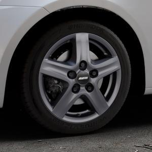 ALUTEC Grip Transporter graphit Felge mit Reifen grau in 16Zoll Winterfelge Alufelge auf silbernem Suzuki Swift V Typ NZ FZ ⬇️ mit 15mm Tieferlegung ⬇️ Industriehalle 1 Thumbnail
