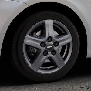 ALUTEC Grip Transporter graphit Felge mit Reifen grau in 16Zoll Winterfelge Alufelge auf silbernem Volkswagen (VW) Touran I Typ 1T II ⬇️ mit 15mm Tieferlegung ⬇️ Industriehalle 1 Thumbnail