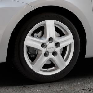 ALUTEC Grip Transporter polar-silber Felge mit Reifen in 16Zoll Winterfelge Alufelge auf silbernem Suzuki Swift VI Typ AZ ⬇️ mit 15mm Tieferlegung ⬇️ Industriehalle 1 Thumbnail