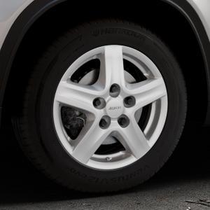 ALUTEC Grip Transporter polar-silber Felge mit Reifen in 16Zoll Winterfelge Alufelge auf silbernem Suzuki Vitara Typ LY ⬇️ mit 15mm Tieferlegung ⬇️ Industriehalle 1 Thumbnail