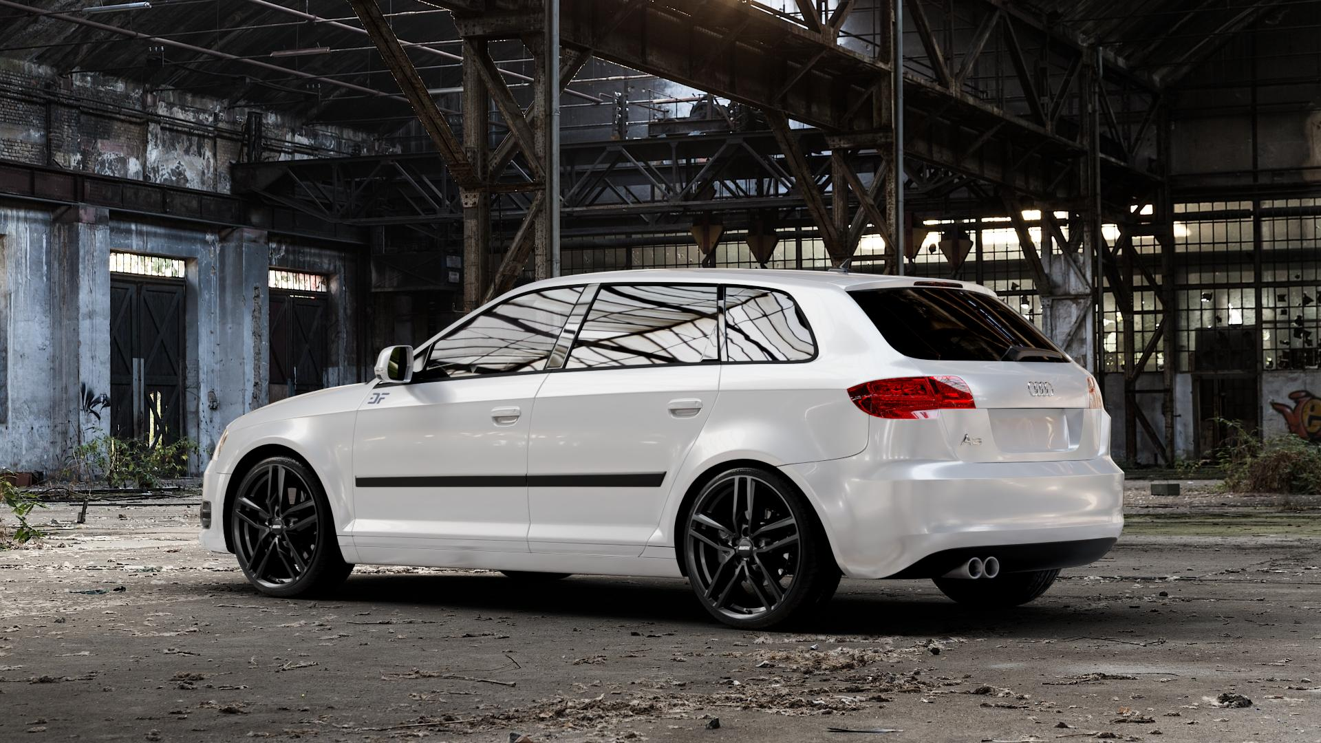 ALUTEC Ikenu diamant-schwarz Felge mit Reifen in 19Zoll Winterfelge Alufelge auf weissem Audi A3 Typ 8P (Sportback) 1,6l 75kW (102 PS) 2,0l FSI 110kW (150 1,9l TDI 77kW (105 103kW (140 TFSI 147kW (200 85kW (116 100kW (136 1,8l 118kW (160 125kW (170 1,4l 92kW (125 120kW (163 quattro 3,2l V6 184kW (250 S3 195kW (265 1,2l 66kW (90 18