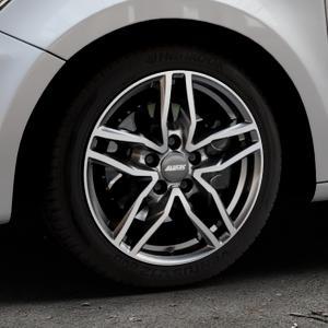 ALUTEC Ikenu graphit frontpoliert Felge mit Reifen grau mehrfarbig in 16Zoll Alufelge auf silbernem Audi A1 Typ 8X ⬇️ mit 15mm Tieferlegung ⬇️ Industriehalle 1 Thumbnail