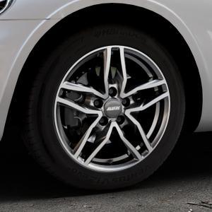 ALUTEC Ikenu graphit frontpoliert Felge mit Reifen grau mehrfarbig in 16Zoll Alufelge auf silbernem Chrysler PT Cruiser Cabriolet ⬇️ mit 15mm Tieferlegung ⬇️ Industriehalle 1 Thumbnail
