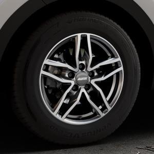 ALUTEC Ikenu graphit frontpoliert Felge mit Reifen grau mehrfarbig in 16Zoll Alufelge auf silbernem Kia Sportage IV Typ QL QLE ⬇️ mit 15mm Tieferlegung ⬇️ Industriehalle 1 Thumbnail