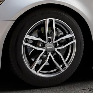 ALUTEC Ikenu graphit frontpoliert Felge mit Reifen grau mehrfarbig in 17Zoll Alufelge auf silbernem Audi A6 Typ 4G/C7 (Limousine) ⬇️ mit 15mm Tieferlegung ⬇️ Industriehalle 1 Thumbnail