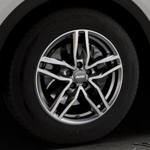 ALUTEC Ikenu graphit frontpoliert Felge mit Reifen grau mehrfarbig in 17Zoll Alufelge auf silbernem Audi Q5 II Typ FY ⬇️ mit 15mm Tieferlegung ⬇️ Industriehalle 1 Thumbnail