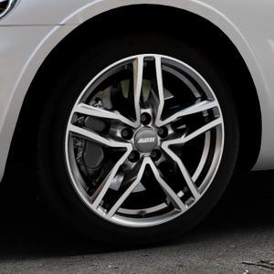 ALUTEC Ikenu graphit frontpoliert Felge mit Reifen grau mehrfarbig in 17Zoll Alufelge auf silbernem Chrysler PT Cruiser Cabriolet ⬇️ mit 15mm Tieferlegung ⬇️ Industriehalle 1 Thumbnail