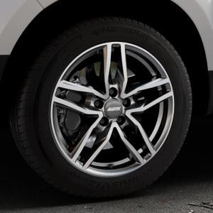 ALUTEC Ikenu graphit frontpoliert Felge mit Reifen grau mehrfarbig in 17Zoll Alufelge auf silbernem Dacia Duster Typ SD ⬇️ mit 15mm Tieferlegung ⬇️ Industriehalle 1 Thumbnail