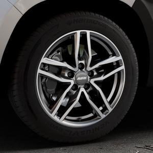 ALUTEC Ikenu graphit frontpoliert Felge mit Reifen grau mehrfarbig in 17Zoll Alufelge auf silbernem Dacia Duster Typ SR ⬇️ mit 15mm Tieferlegung ⬇️ Industriehalle 1 Thumbnail