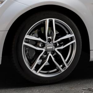 ALUTEC Ikenu graphit frontpoliert Felge mit Reifen grau mehrfarbig in 17Zoll Alufelge auf silbernem Mercedes C-Klasse Typ W204 Limousine ⬇️ mit 15mm Tieferlegung ⬇️ Industriehalle 1 Thumbnail
