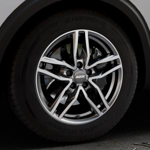 ALUTEC Ikenu graphit frontpoliert Felge mit Reifen grau mehrfarbig in 17Zoll Alufelge auf silbernem Peugeot 5008 Typ M ⬇️ mit 15mm Tieferlegung ⬇️ Industriehalle 1 Thumbnail