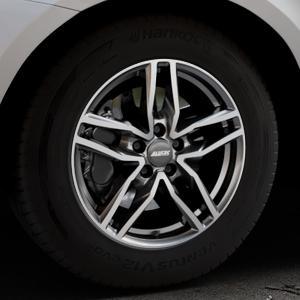ALUTEC Ikenu graphit frontpoliert Felge mit Reifen grau mehrfarbig in 17Zoll Alufelge auf silbernem Volvo XC60 Typ D Facelift ⬇️ mit 15mm Tieferlegung ⬇️ Industriehalle 1 Thumbnail