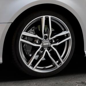 ALUTEC Ikenu graphit frontpoliert Felge mit Reifen grau mehrfarbig in 18Zoll Alufelge auf silbernem Audi A3 Typ 8V Facelift ⬇️ mit 15mm Tieferlegung ⬇️ Industriehalle 1 Thumbnail