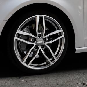 ALUTEC Ikenu graphit frontpoliert Felge mit Reifen grau mehrfarbig in 18Zoll Alufelge auf silbernem Audi A3 Typ 8V ⬇️ mit 15mm Tieferlegung ⬇️ Industriehalle 1 Thumbnail
