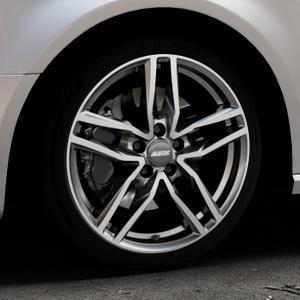 ALUTEC Ikenu graphit frontpoliert Felge mit Reifen grau mehrfarbig in 18Zoll Alufelge auf silbernem Audi A3 Typ 8V (Sportback) ⬇️ mit 15mm Tieferlegung ⬇️ Industriehalle 1 Thumbnail