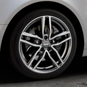 ALUTEC Ikenu graphit frontpoliert Felge mit Reifen grau mehrfarbig in 18Zoll Alufelge auf silbernem Audi A6 Typ 4F/C6 (Limousine) ⬇️ mit 15mm Tieferlegung ⬇️ Industriehalle 1 Thumbnail