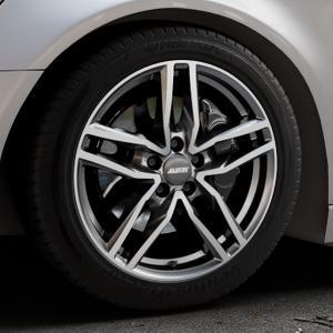 ALUTEC Ikenu graphit frontpoliert Felge mit Reifen grau mehrfarbig in 18Zoll Alufelge auf silbernem Audi A6 Typ 4G/C7 (Avant) ⬇️ mit 15mm Tieferlegung ⬇️ Industriehalle 1 Thumbnail