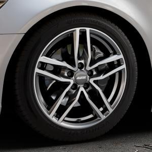 ALUTEC Ikenu graphit frontpoliert Felge mit Reifen grau mehrfarbig in 18Zoll Alufelge auf silbernem Audi A6 Typ 4G/C7 (Limousine) ⬇️ mit 15mm Tieferlegung ⬇️ Industriehalle 1 Thumbnail