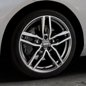 ALUTEC Ikenu graphit frontpoliert Felge mit Reifen grau mehrfarbig in 18Zoll Alufelge auf silbernem BMW 214d Typ F2AT (F45 Active Tourer) 216d 216i 218d 218i 220d xDrive 220i 225i 225xe ⬇️ mit 15mm Tieferlegung ⬇️ Industriehalle 1 Thumbnail