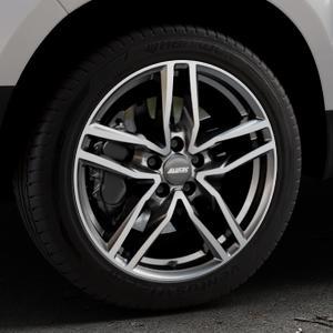 ALUTEC Ikenu graphit frontpoliert Felge mit Reifen grau mehrfarbig in 18Zoll Alufelge auf silbernem Dacia Duster Typ SD ⬇️ mit 15mm Tieferlegung ⬇️ Industriehalle 1 Thumbnail