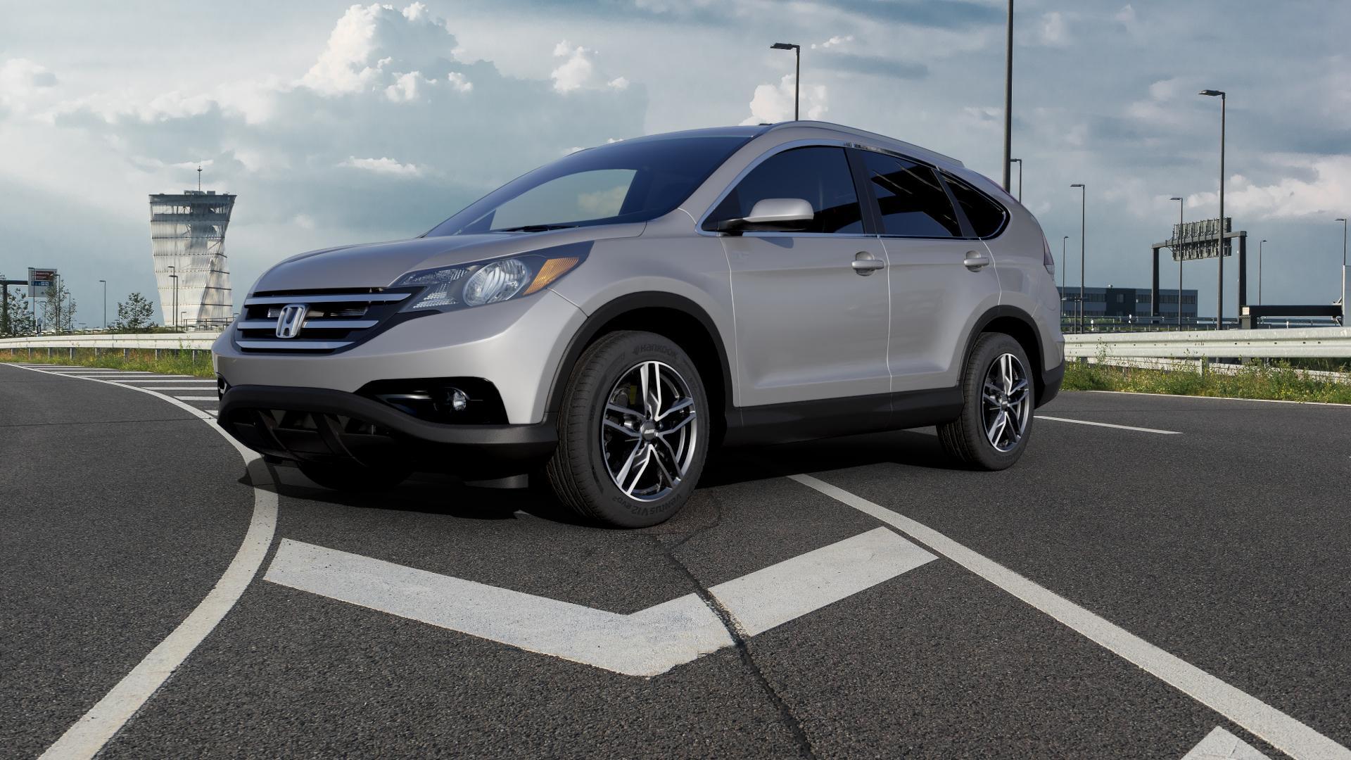 ALUTEC Ikenu graphit frontpoliert Felge mit Reifen grau mehrfarbig in 18Zoll Alufelge auf silbernem Honda CR-V IV (RE5, RE6) ⬇️ mit 15mm Tieferlegung ⬇️ Autobahn_1 Camera_000