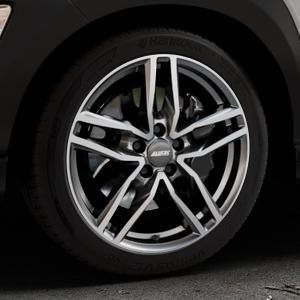 ALUTEC Ikenu graphit frontpoliert Felge mit Reifen grau mehrfarbig in 18Zoll Alufelge auf silbernem Hyundai Kona Typ OS ⬇️ mit 15mm Tieferlegung ⬇️ Industriehalle 1 Thumbnail