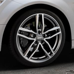 ALUTEC Ikenu graphit frontpoliert Felge mit Reifen grau mehrfarbig in 18Zoll Alufelge auf silbernem Mercedes C-Klasse Typ W204 Limousine ⬇️ mit 15mm Tieferlegung ⬇️ Industriehalle 1 Thumbnail